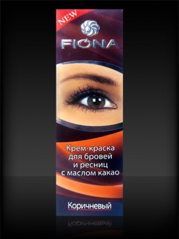 FIONA Краска д/ бровей и ресниц 7528 с кистью д/окраски Коричневая