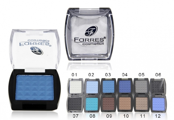 Farres 1001A  #03  Тени для век матовые       (6)(мат.ярк.голубой)