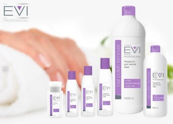 EVI Жидкость для снятия лака с ацетоном 500 мл/12 шт