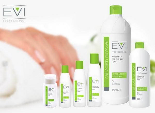EVI Жидкость для снятия лака без ацетона 500 мл/12 шт