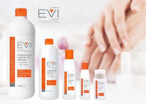 EVI Средство для удаления лака и гель-лака 500 мл/12 шт