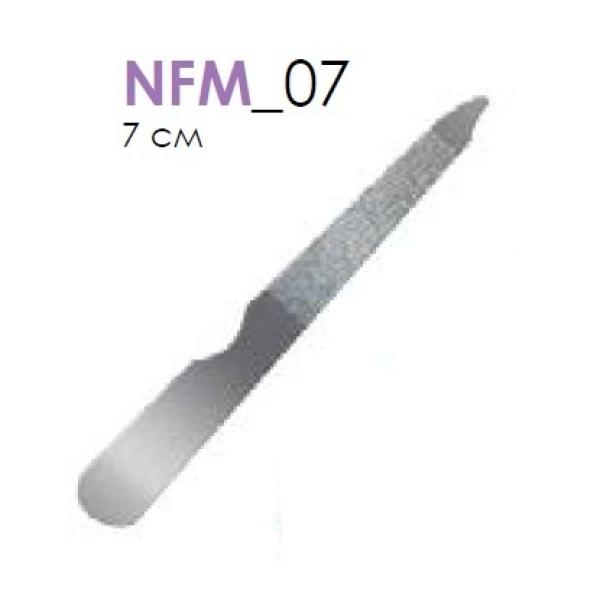 Пилка метал.д/ногтей  NFM07 OPP5*10 7 см coolBeauty пилочка металлическая ручка (24/уп