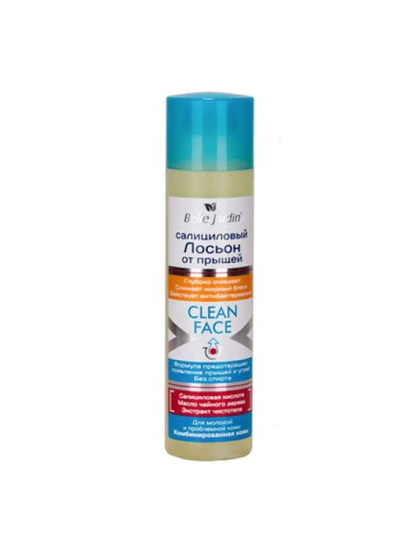 B.J.Clean Face Салициловый лосьон от прыщей с экстрактом шалфея, 150 мл