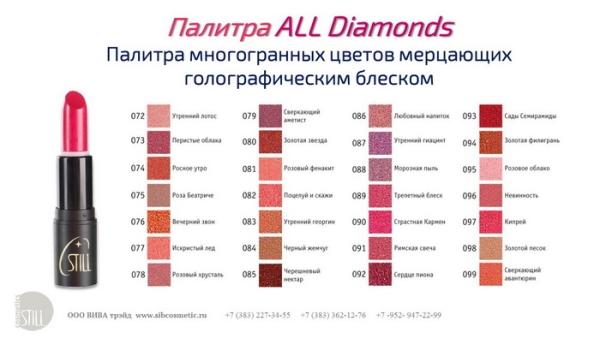 "№084 Still All Hits Г/п с брилл. блеском ""ALL DIAMONDS""  4 г (12*240)"