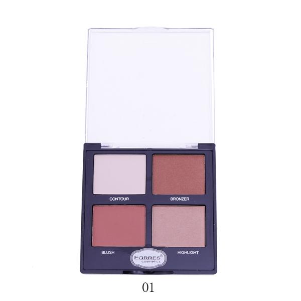 Farres 3203-01 Палетка для макияжа 4в1 (*6*288)