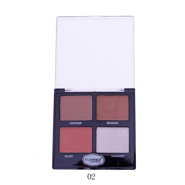 Farres 3203-02 Палетка для макияжа 4в1 (*6*288)