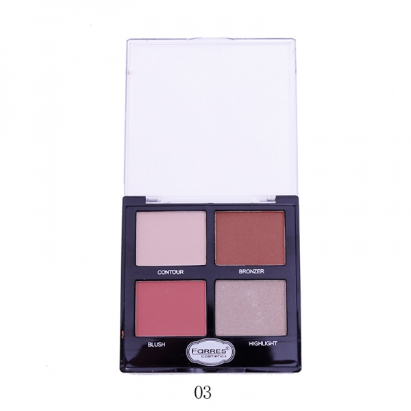 Farres 3203-03 Палетка для макияжа 4в1 (*6*288)