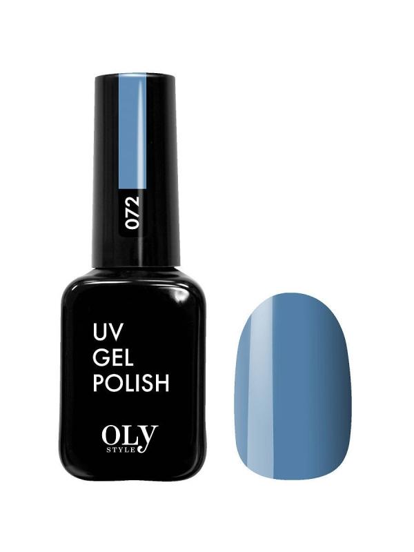Гель лак  OLYSTYLE  тон 072 серо-синий