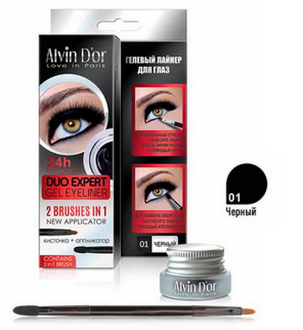 "P-11 Лайнер гелевый д/глаз ""Aivin D`or"" duo expert gel eyeliner (тон 01 black)"