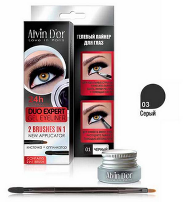 "P-11 Лайнер гелевый д/глаз ""Aivin D`or"" duo expert gel eyeliner (тон 03 gray)"