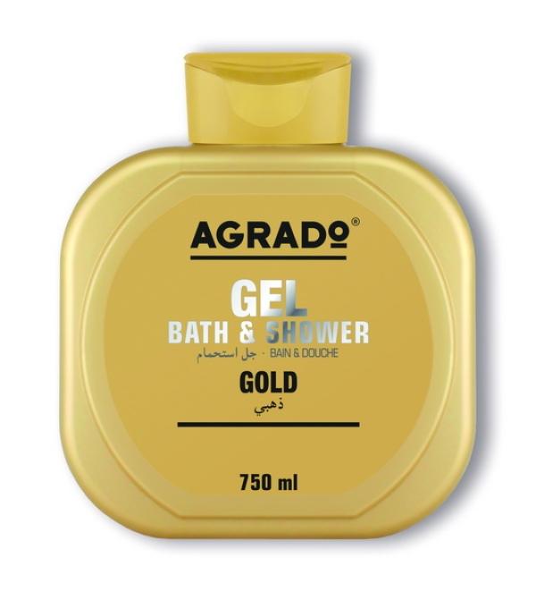 """AGRADO Гель для ванн  и душа""""Gold"""",  750ml"""