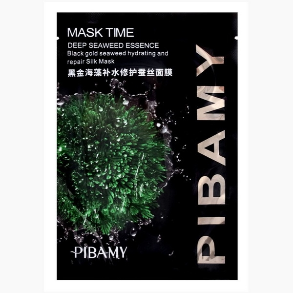 PBM04  маска для лица  MASK TIME deep seaweed essence, эссенция глубоких морских водорослей, черная