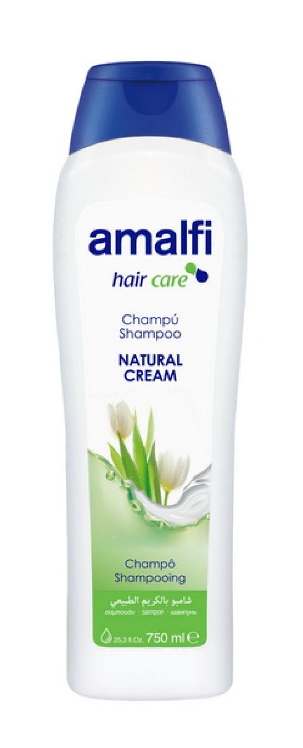"AMALFI  Шампунь семейный для волос  ""Natural Cream"",  750ml"