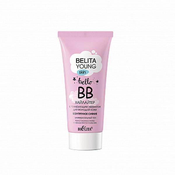 Belita Young skin ВВ-хайлайтер с тонирующим эффектом для молодой кожи «Безупречное сияние», 30мл /15