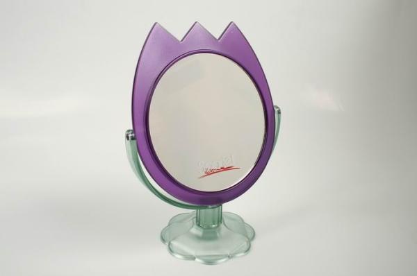 Зеркало настольное KF 668 двухстороннее в форме тюльпана  12/96 (шт.)