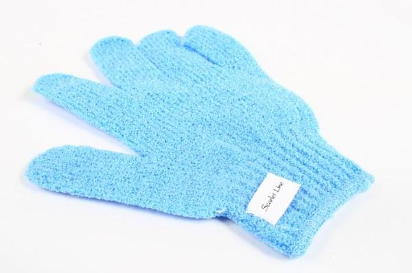Мочалка S-5063 LIGHT BLUE перчатка (нейлон)     90/360шт.
