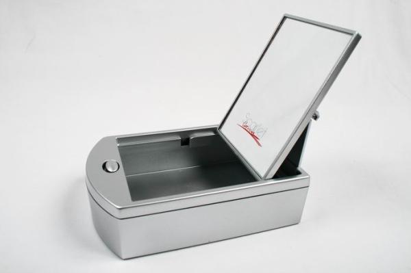 Зеркало настольное KF 786    пластик. Box     ( 6/72 шт.)