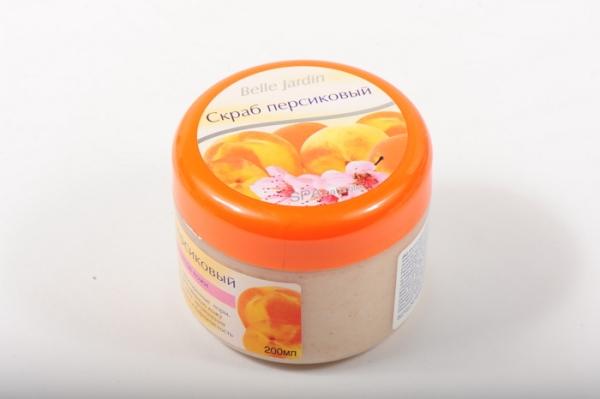 B.J.Spa naturelle Bio 200 мл Скраб персиковый для лица в банке