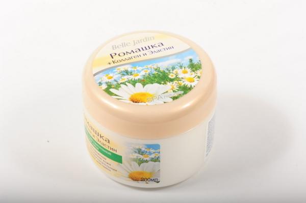 B.J.Spa naturelle Bio 200 мл Крем Ромашка + коллаген и эластин  для лица в банке