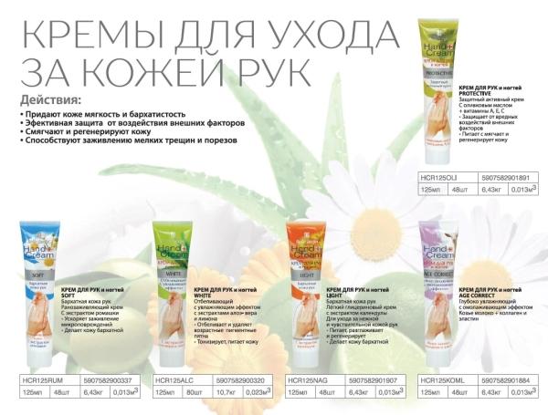 B.J.Hand cream Крем для рук и ногтей Protective c оливковым маслом + витамины А,С,Е 125мл.защитный